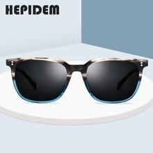 Asetat polarize güneş gözlüğü erkekler 2020 yeni yüksek kalite Vintage kare güneş gözlüğü kadınlar için erkek kore gözlük Sunglass 9114