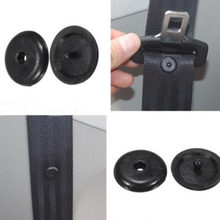 1 Pair Plastic Car Safety Seat Belt Stopper Car Parts Black Beige Spacing Limit Buckle Clip Retainer Seatbelt Stop Button(China)