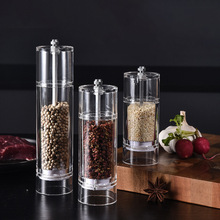 Pepper Grinder Salt Spices-Mills Kitchen-Accessories Manual Acrylic And for Perfect Set-Clear