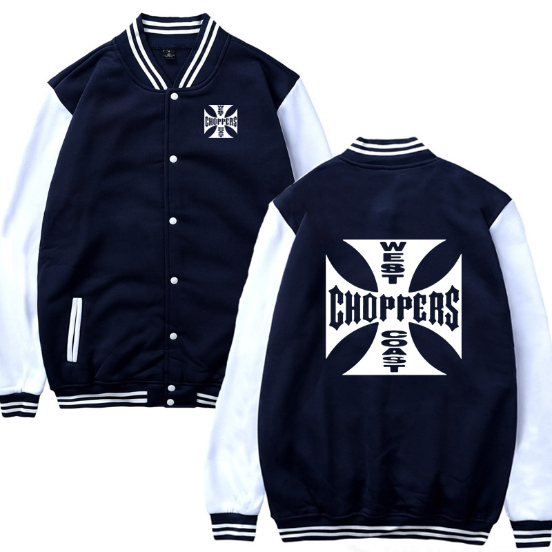 Baseball uniform Spring Autumn Sweatshirt West Coast Choppers Men Slim Fit Jacket Men Hip Hop Harajuku Unisex Baseball Jacket