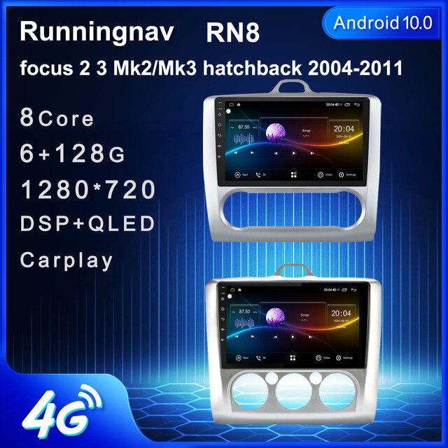 4G LTE Android 10.1 Cho Xe Ford Focus Exi Ở 2004  2011 Đa Phương Tiện Stereo DVD Xe Hơi Dẫn Đường GPS đài Phát Thanh