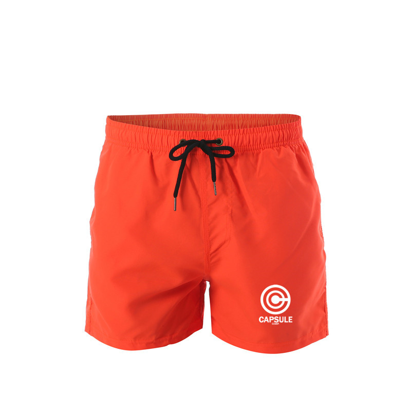Men's Sport Running Beach Short Board Pants Hot Sell Swim Trunk Pants Quick-drying With Pocket Male Surfing Goku Print Shorts