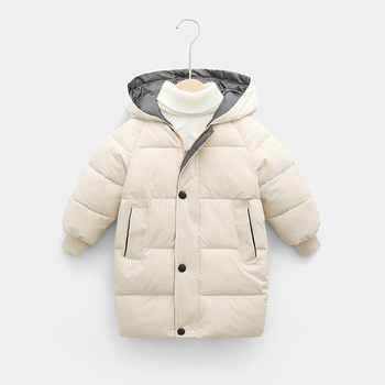 2-12Y Russian Kids Children's Down Outerwear Winter Clothes Teen Boys Girls Cotton-Padded Parka Coats Thicken Warm Long Jackets 2020 new boys jackets parka baby outerwear childen winter jackets for boys down jackets coats warm kids baby thick cotton down