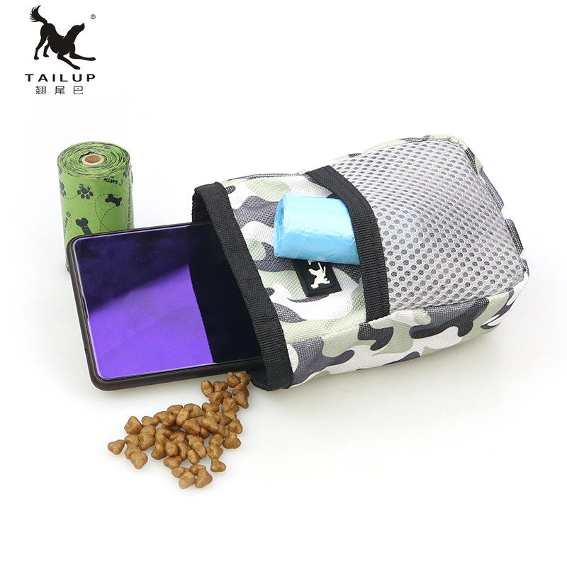 Портативный тренировочный мешок для собак, сумка для домашних животных, сумка для хранения корма, карман для закусок, сумка для талии для пу...