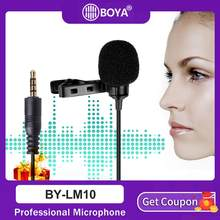 BOYA BY-LM10 DOOR LM10 Telefoon Audio Video-opname Lavalier Condensator Microfoon voor iPhone 6 5 4 S 4 Sumsang GALAXY 4 LG G3 XIAOMI(China)