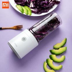 Xiaomi youpin przenośne owoce sokowirówka puchar 350ml małe jedzenie warzyw maszyna Mini elektryczny sokowirówka wyciskacz do podróży gospodarstwa domowego