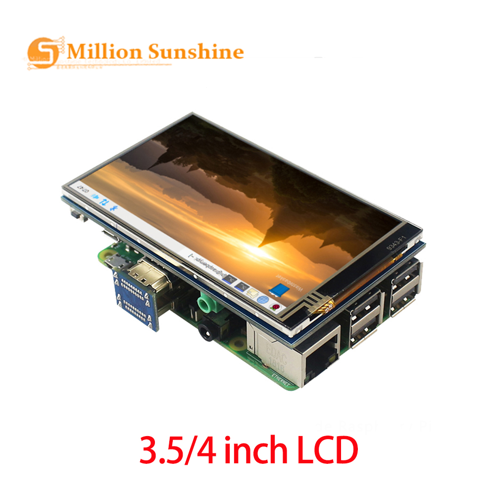 4 Inch3.5 Inch Raspberry Pi4 Touch Screen 800x480 IPS Backlight Adjust LCD Display Wih Audio For Raspberry Pi 4B/3B+/3B PCRPI134