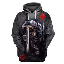 Tessffel Knight Templar cavalie Tracksuit casual unisex Harajuku fashion 3DPrint Hoodie/Sweatshirt/Jacket/shirts Men Women s-12