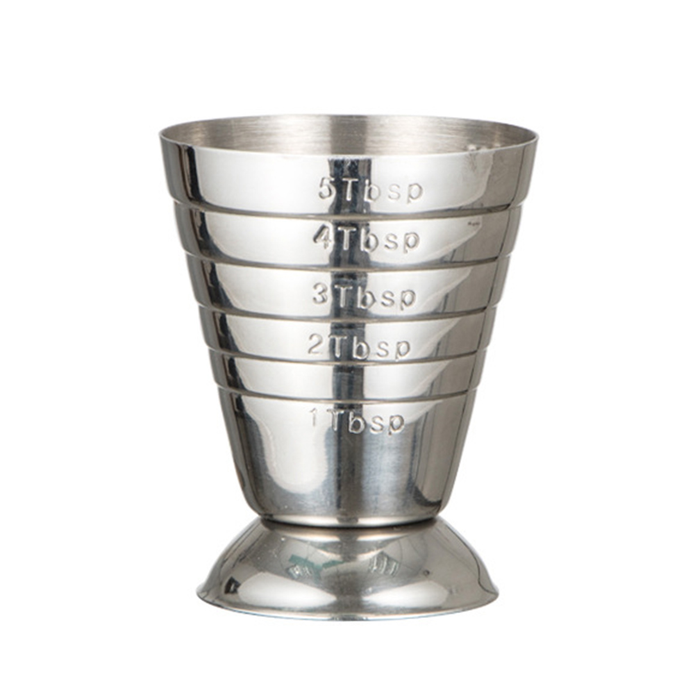 75ml Stainless Steel Silver Bar Shot Mini Measuring Cup Cocktail