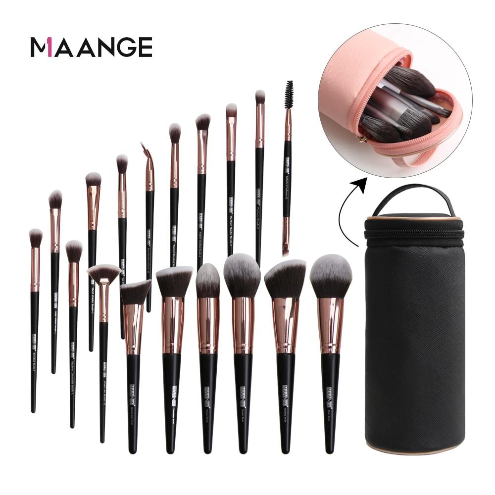 MAANGE Makeup-Brushes-Set Eyeshadow Blush Hair-Foundation-Powder Professional Natural