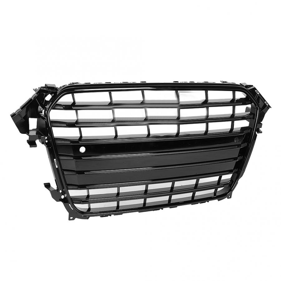 Image 3 - For S4 Style Car Front Bumper Mesh Grille Grill for Audi A4/S4 B8.5 2013 2014 2015 2016 ABS Black Car AccessoriesRacing Grills   -