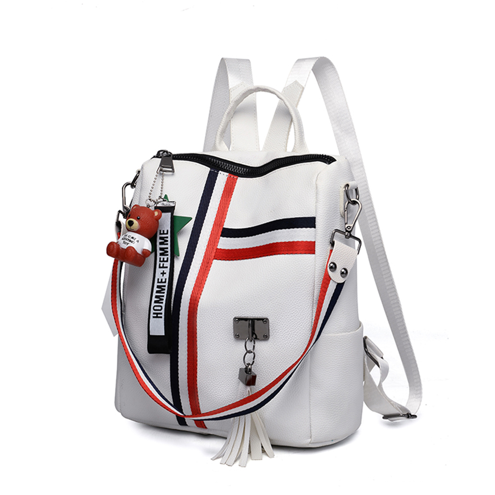 Buy Women's Leather Backpack School Bags For Teenage Girls Large Capacity Backpack Casual Ladies' Laptop Bag Drop Shipping Mochilas for only 21.64 USD
