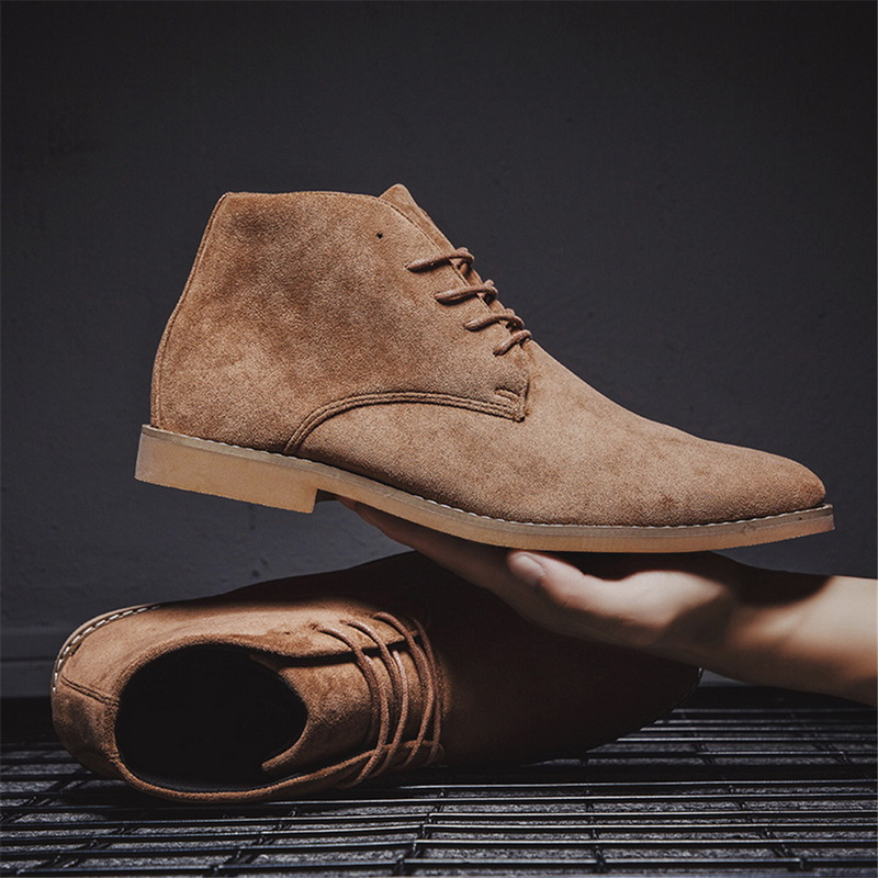 2019 Men Chelsea Boots Ankle Boots Fashion New Men's Male Brand Leather Quality Slip On Motorcycle Man Warm Shoes Drop Shopping