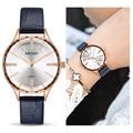 MEGIR роскошные женские часы Reloj Mujer синие кожаные женские кварцевые женские наручные часы Часы Relogio Feminino дропшиппинг