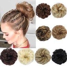 DIANQI стиль женский кудрявый зажим шиньон резинка синтетика резина резинка для волос накидка грязные волосы пучок шиньоны