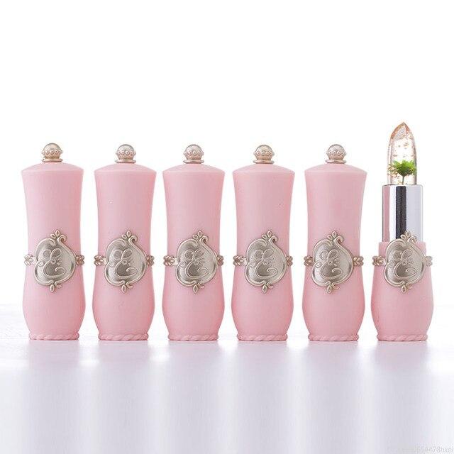 Flower Crystal Jelly Lipstick Magic Temperature Color Changing Lip Balm Moisturizing Long Lasting Beauty Lipstick Makeup TSLM1 4