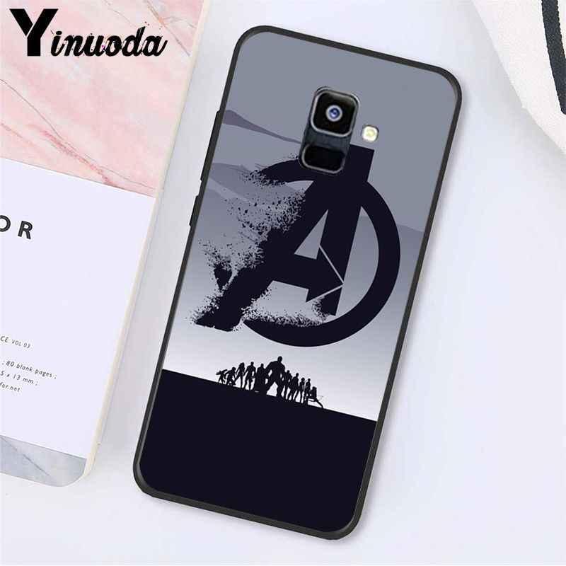 Yinuoda الأعجوبة المنتقمون شعار الرجل الحديدي سبايدرمان الهاتف حقيبة لهاتف سامسونج غالاكسي A7 A50 A70 A20 A30 A40 A8 A6Plus A8Plus A9 2018