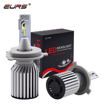 EURS C319 brightest auto car led headlight bulbs h4 led h7 h11 60w 10000LM CSP FAN cooling headlamp fog light image