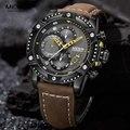 MEGIR армейский Милитари спортивный часы для мужчин лучший бренд класса люкс кварцевые наручные часы с хронографом Relogio Masculino кожаный ремешок ...