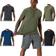 Мужская компрессионная футболка для бега Спортивная с длинным