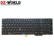 Teclado retroiluminado Latino para ordenador portátil ThinkpadT540P, W540, W541, T550, W550S, T560, P50S, Teclado 04Y2468, 04Y2390