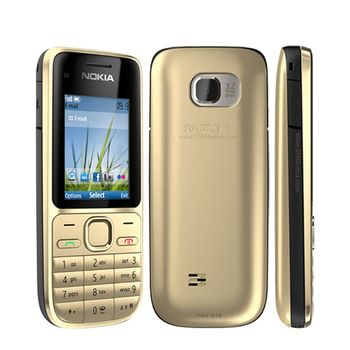 Original Nokia C2 C2-01 Unlocked GSM Mobile Phone English&Hebrew Keyboard Support Logo On The Button Used Cellphones 2