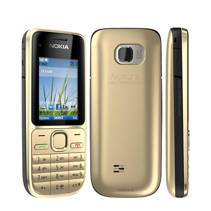 Original Nokia C2 C2-01 Unlocked GSM Mobile Phone English&Arabic&Hebrew&Russian Keyboard Used Cellphones