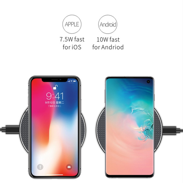 10W 15W Qi Wireless Charger For All mobile phones with wireless charging function Induction Fast Wireless Charging Dock Pad 2