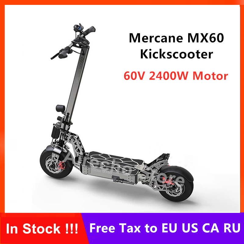 New <font><b>Mercane</b></font> <font><b>MX60</b></font> Kickscooter Foldable Smart Electric Scooter 2400W Motor 60km/h 100km Mileage 11 Inch Tire Dual Brake Skateboard image