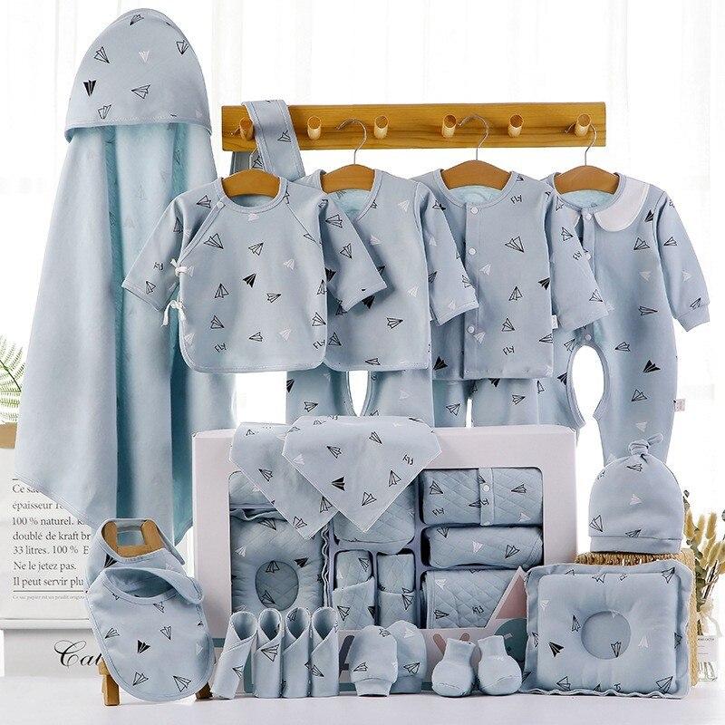 18/22 шт., детский хлопковый комплект одежды для новорожденных, на возраст 0-12 месяцев