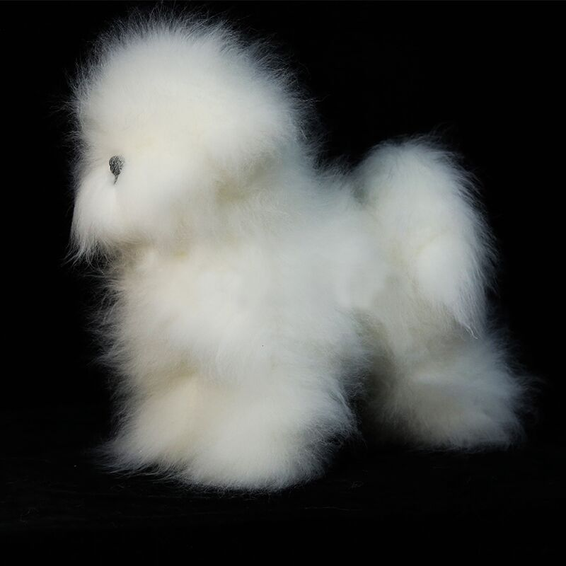 Bichon Model Dog Wig Only  Pet Grooming Trimming Practice Bichon Fur In White(without Mannequin)