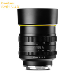 Camera Lens Kamlan 50mm F1.1-F16 II APS-C Large Aperture Manual Focus Lens for Sony NEX Cameras 8 elements in 6 groups