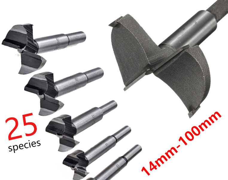Free Shipping 25 Types Forstner Wood Drill Bit Self Centering Hole Saw Cutter Woodworking Tools