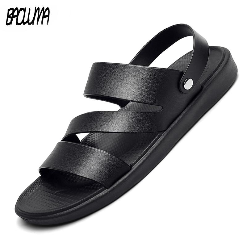Summer Men's Sandals Clogs Shoes Outdoor Hot Sale Breathable Light Men Roman Beach Sandals Bohemia Footwear Flip Flops Slippers