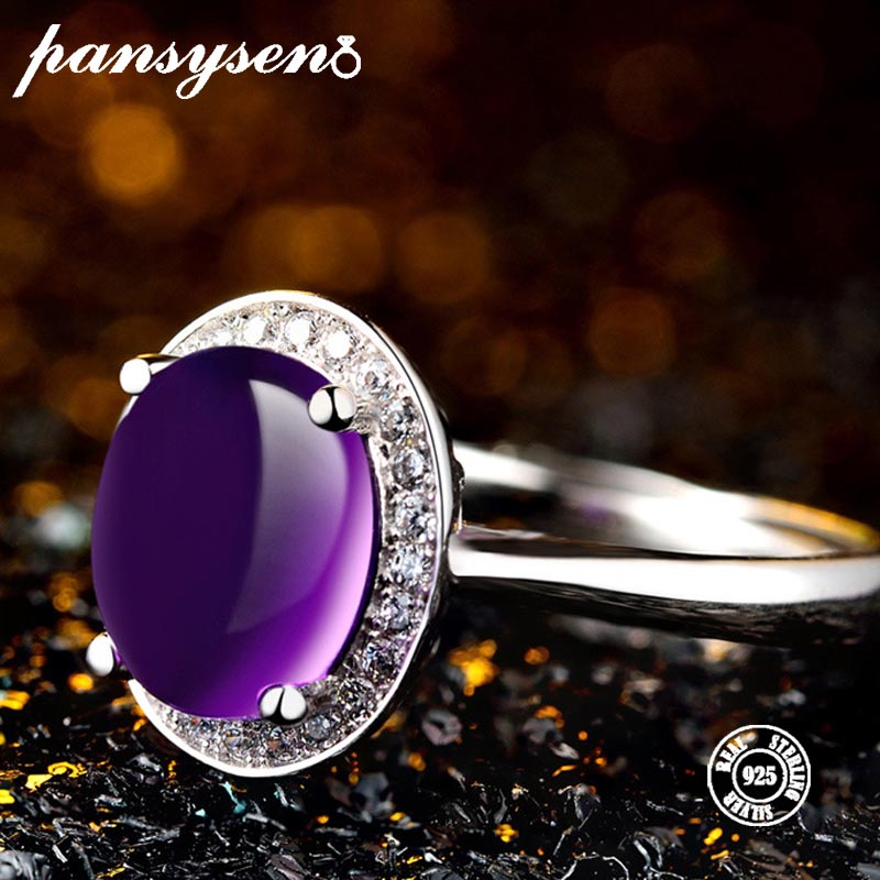 PANSYSEN Ring Amethyst 100%925-Sterling-Silver Fine-Jewelry Gemstone Party-Anniversary
