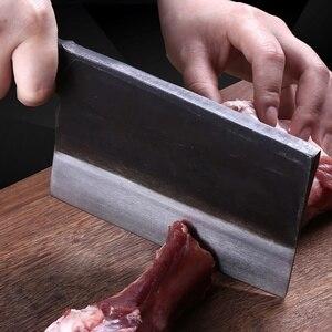 Image 4 - Profissional 6 polegada Artesanal Forjado Faca Santoku Aço Carbono Forjado Faca Chinesa Cutelo Facas de Cozinha