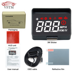 2020Newly A100S Car HUD Head Up Display OBD2 EUOBD Overspeed Warning Auto Electronic Voltage Alarm Better Than A100 HUD