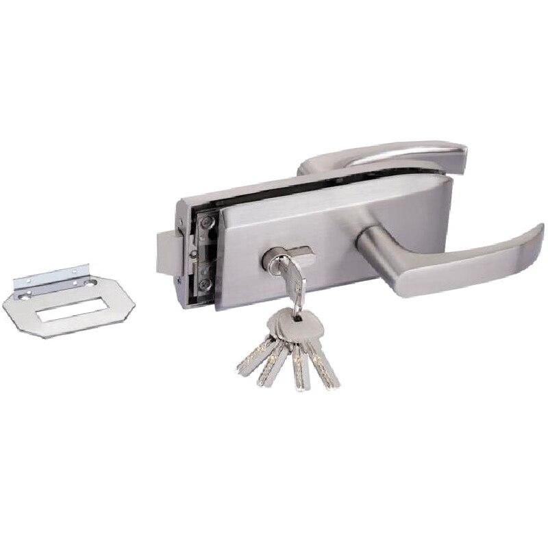 Glass Door Lock W Key Swing Door And Sliding Door Aluminum Frameless Glass Door Lock, High Partition Door Lock