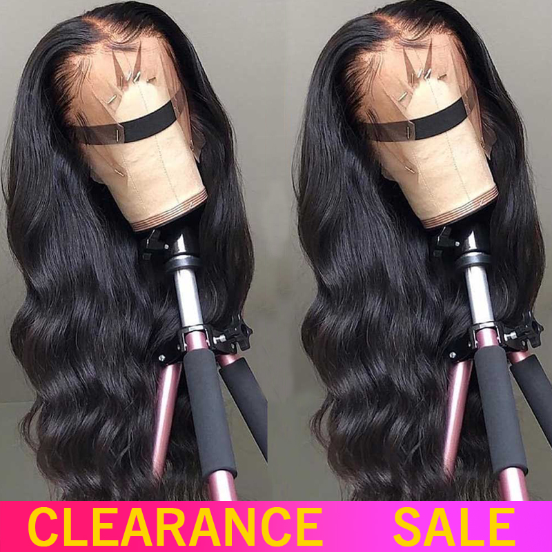 150 180 200 Density Lace Front Human Hair Wigs 13X4 Non-Remy Brazilian Body Wave Lace Front Wig With Baby Hair For Black Women