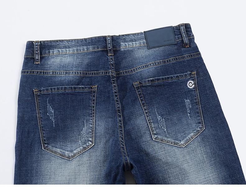 KSTUN Men Jeans Brand 2020 Summer Stretch Business Casual Slim Straight  Jeans Light Blue Male Denim Pants Trousers Plus Size 40 14