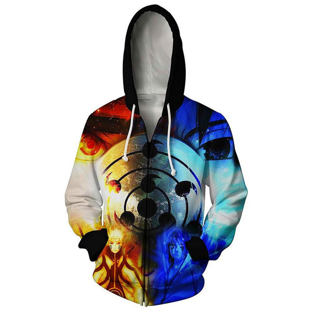 Boruto Naruto Hoodies Jacket Men Harajuku 3D Hoody Akatsuki Coat Uchiha Itach Cosplay Costume Kakashi Zipper Hooded Sweatshirts 4