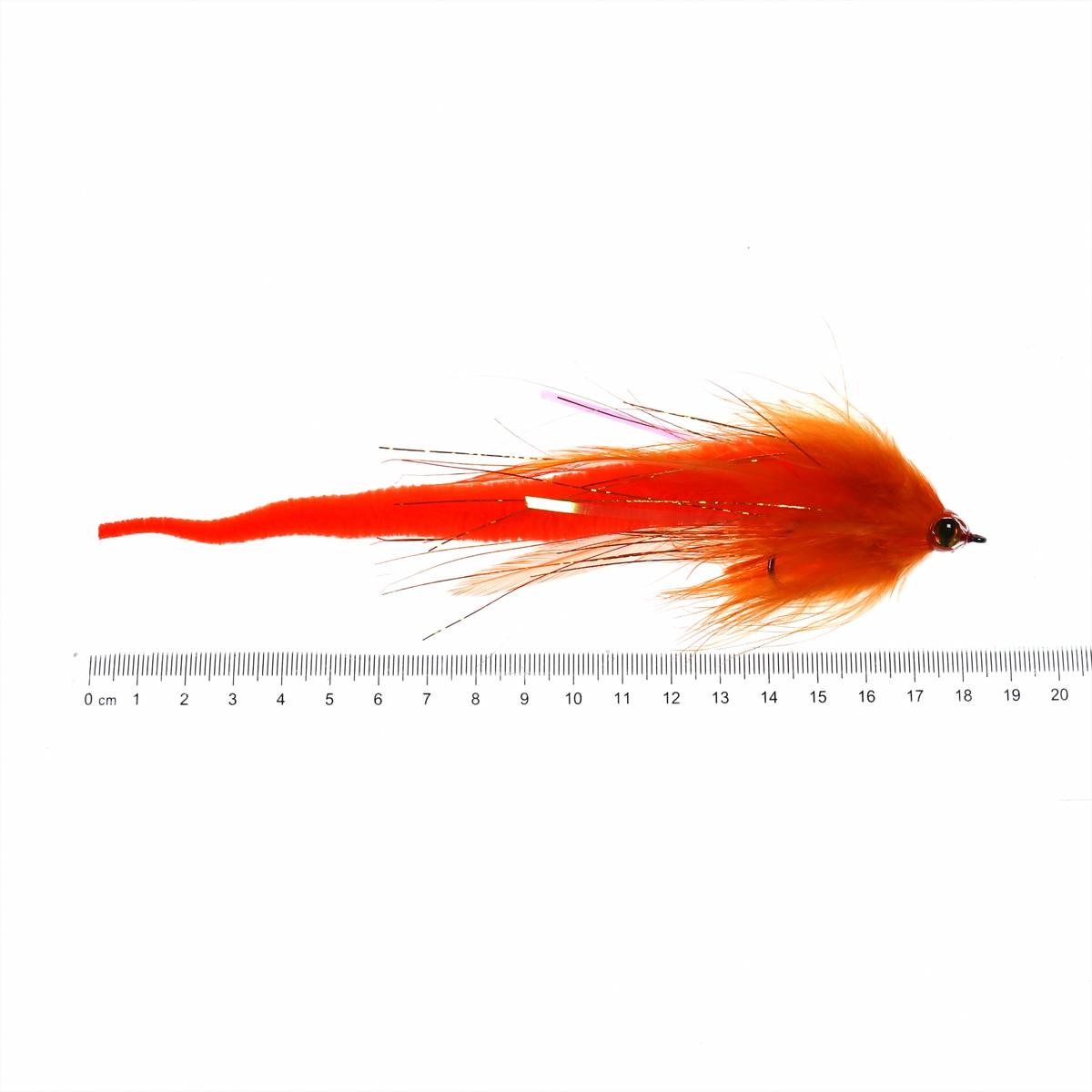 Pike, Muskie, Bass Streamer red//yellow Predator Zonker