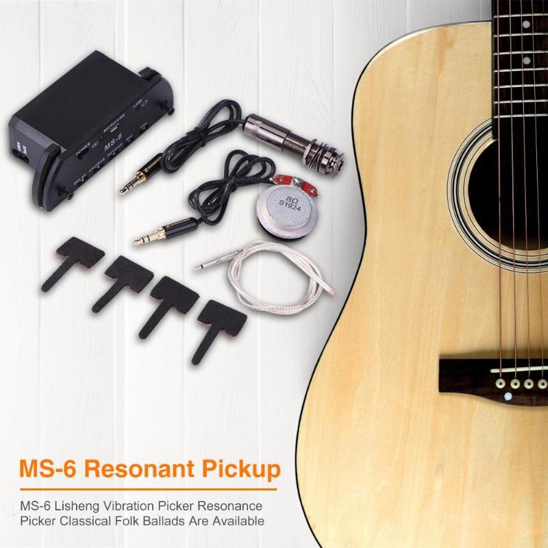 Vendita calda Multi purpose Chitarra di Risonanza di Pick Up di Usura resistente Facile Da trasportare Amplificatore con il Volume Mic di Ritardo riverbero - 3