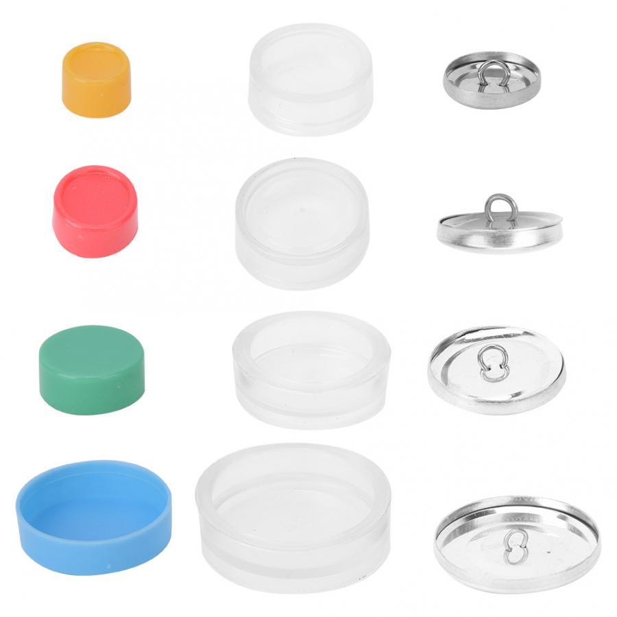 Креативный тканевый чехол для сумки, набор кнопок, Набор сумок для рукоделия, набор с пряжкой, круглая пуговица, основа для рукоделия