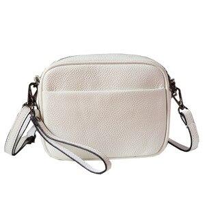 Image 5 - مصمم امرأة حقيبة يد جلدية صغيرة فاخرة حقيبة كتف عبر الجسم موضة حقيبة ساع المرأة جلد طبيعي أسود حقيبة يد
