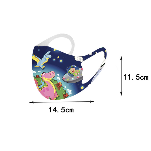 10PCS Kids Face mouth Masks Washable Reusable Face Cover Fashion Printed Ice Silk Mask Breathable Mouth Mask Cover Mascarilla#3 6