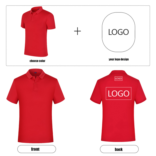 High-end customization POLO shirt custom work POLO short sleeve team high quality quick-drying shirt Adult and children sizes 2