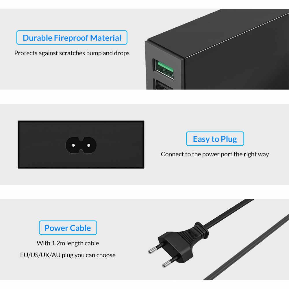 Orico QSL-5U 5 Port QC 2.0 40W Max Desktop USB Charger Cepat Cepat USB Charger untuk Ponsel Tablet