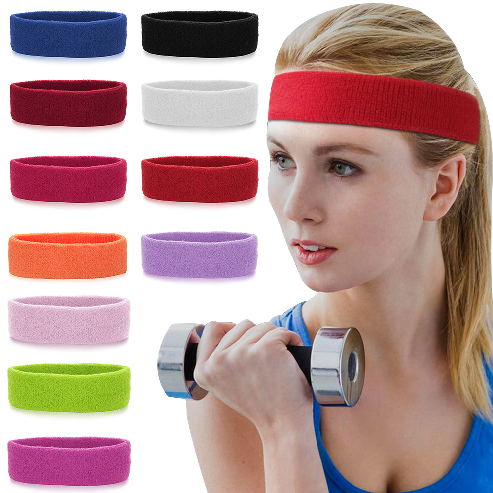 Red Wrist Bands Head Band Sweat Athletic Sport Bands NEW