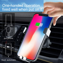 Montagem do carro Carregador Sem Fio Qi QC3.0 Carregador Rápido Carregador Rápido Car Holder Suporte para iPhone Samsung Xiaomi S8 Telefone Inteligente